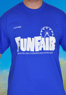T-Shirt Funfair Blau - XL, T-Shirts
